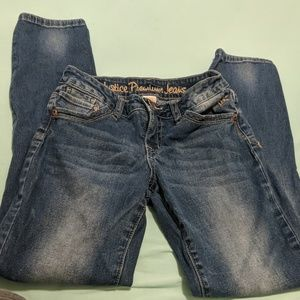 Size 10 Justice jeans super skinny